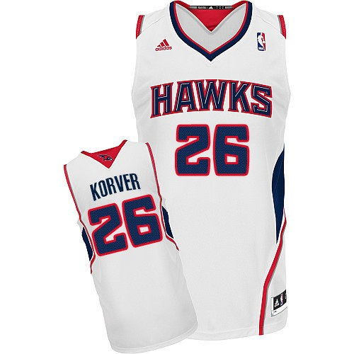 Kyle Korver Authentic In White Adidas NBA Atlanta Hawks #26 Men's Home White Jersey