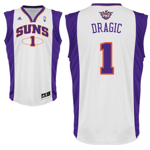 Men's Adidas Phoenix Suns #1 Goran Dragic White Home Swingman NBA Jersey