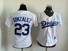 Los Angeles Dodgers #23 Adrian Gonzalez White Women