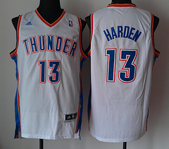 Oklahoma City Thunder #13 James Harden White Revolution 30 jerseys