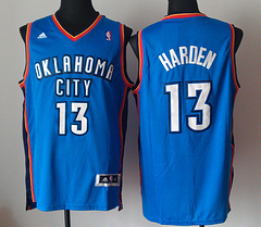 Oklahoma City Thunder #13 James Harden Blue revolution 30 jersey