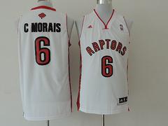 Toronto Raptors #6 C Morais Revolution 30 White Swingman jersey