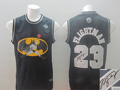 Revolution 30 Chicago Bulls #23 Flightman Black Signed Stitched NBA Jersey