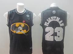 Revolution 30 Chicago Bulls #23 Flightman Black Stitched NBA Jersey