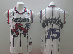 Toronto Raptors #15 Carter White Revolution 30 Swingman Jersey