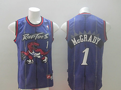 Toronto Raptors #1 McGrady Purpler Revolution 30 Swingman Jersey
