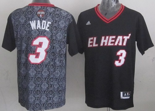 Miami Heat #3 Dwyane Wade Revolution 30 Swingman 2014
