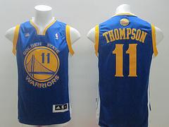 Golden State Warriors #11 Klay Thompson Revolution 30 Swingman Blue Jersey