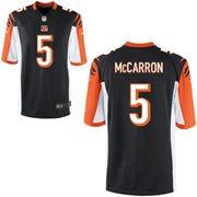 Nike Cincinnati Bengals 2014 NFL Draft #5 Pick AJ MCCarron Black Game Jersey