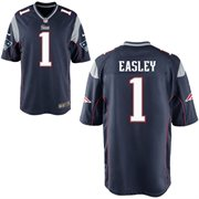 Nike England Patriots 2014 NFL Draft #1 Pick Dominique Easley Navy Blue New Game Jersey