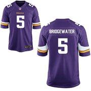 Nike Minnesota Vikings 2014 NFL Draft #2 Pick Round 1 Teddy Bridgewater Purple Game Jersey