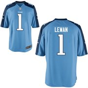 Nike Tennessee Titans 2014 NFL Draft #1 Pick Taylor Lewan Light Blue Game Jersey