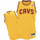 Revolution 30 Cavaliers Blank Yellow Stitched NBA Jersey