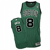 Revolution 30 Celtics #8 Jeff Green Green(Black No.) Stitched NBA Jersey