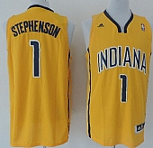 Revolution 30 Pacers #1 Lance Stephenson Yellow Home Stitched NBA Jersey