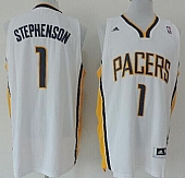 Revolution 30 Pacers #1 Lance Stephenson White Road Stitched NBA Jersey