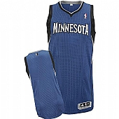 Revolution 30 Timberwolves Blank Blue Stitched NBA Jersey