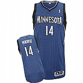 Revolution 30 Timberwolves #14 Nikola Pekovic Blue Stitched NBA Jersey