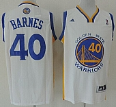 Revolution 30 Warriors #40 Harrison Barnes White Stitched NBA Jersey