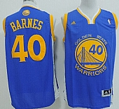 Revolution 30 Warriors #40 Harrison Barnes Blue Stitched NBA Jersey