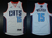 Revolution 30 Bobcats #15 Kemba Walker White Stitched NBA Jersey