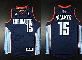 Revolution 30 Bobcats #15 Kemba Walker Navy Blue Stitched NBA Jersey