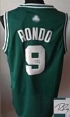 Revolution 30 Autographed Celtics #9 Rajon Rondo Green(White No.) Stitched NBA Jersey