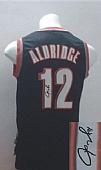 Revolution 30 Autographed Blazers #12 Lamarcus Aldridge Black Stitched NBA Jersey