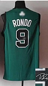 Revolution 30 Autographed Celtics #9 Rajon Rondo Green(Black No.) Stitched NBA Jersey