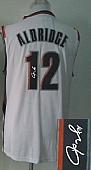 Revolution 30 Autographed Blazers #12 Lamarcus Aldridge White Stitched NBA Jersey