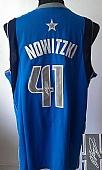 Revolution 30 Autographed Mavericks #41 Dirk Nowitzki Sky Blue Stitched NBA Jersey