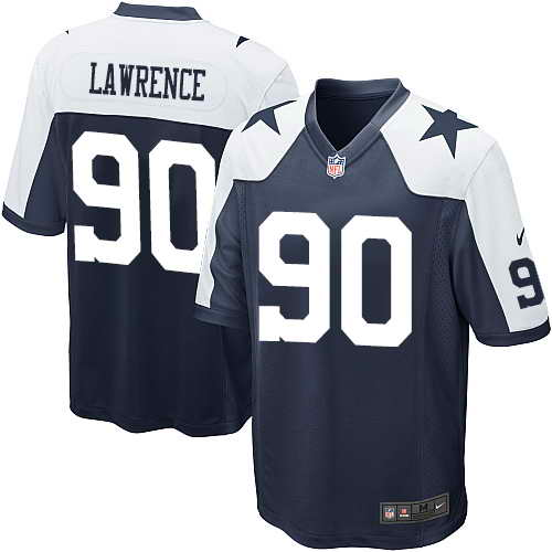 Nike Dallas Cowboys#90 Bemarcus Lawrence Mens's Game Throwback jersey