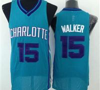 Revolution 30 Charlotte Hornets #15 Kemba Walker Light Blue Stitched NBA Jersey