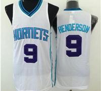 Revolution 30 Charlotte Hornets #9 Gerald Henderson White Stitched NBA Jersey