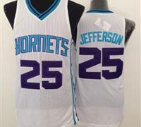 Revolution 30 Charlotte Hornets #25 Al Jefferson White Stitched NBA Jersey