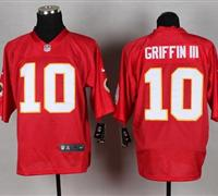New Washington Redskins #10 Robert Griffin III Red NFL Elite QB Practice Jersey