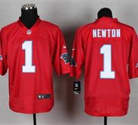 New Carolina Panthers #1 Cam Newton Red NFL Elite QB Practice Jersey