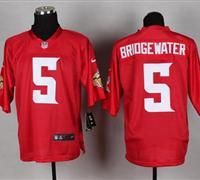 New Minnesota Vikings #5 Teddy Bridgewater Red NFL Elite QB Practice Jersey
