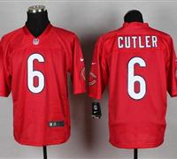 New Chicago Bears #6 Jay Cutler Red NFL Elite QB Practice Jersey