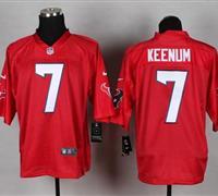 New Houston Texans #7 Case Keenum Red NFL Elite QB Practice Jersey