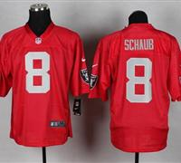 w Oakland Raiders #8 Matt Schaub Red NFL Elite QB Practice Jersey