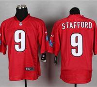 New Detroit Lions #9 Matthew Stafford Red NFL Elite QB Practice Jersey