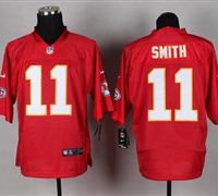 w Kansas City Chiefs #11 Alex Smith Red NFL Elite QB Practice Jersey