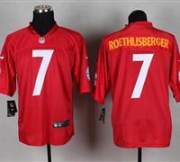 New Pittsburgh Steelers #7 Ben Roethlisberger Red NFL Elite QB Practice Jersey
