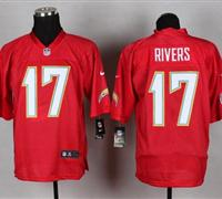 New San Diego Chargers #17 Philip Rivers Red NFL Elite QB Practice Jersey
