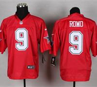 New Dallas Cowboys #9 Tony Romo Red NFL Elite QB Practice Jersey