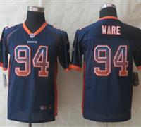 Youth 2014 New Denver Broncos 94 Ware Drift Fashion Blue Elite Jerseys