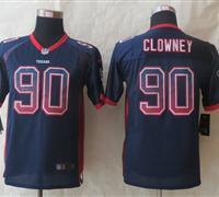 Youth 2014 New Houston Texans 90 Clowney Drift Fashion Blue Elite Jerseys