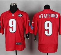 NEW Lions #9 Matthew Stafford Red With WCF Patch QB Practice Jersey