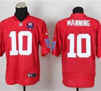 Giants #10 Eli Manning Red With 1925-2014 Season Patch QB Practice Jersey